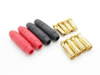 7mm AS150 Anti Funken Selbst Isolier-Gold-Rundstecker (2 Paar)