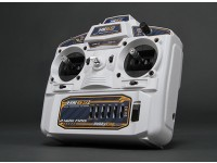 Hobbyking HK6S 2,4 GHz FHSS 6Ch Tx & Rx (weiß) (Mode 1)
