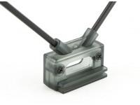 Hobbyking Receiver Antennenhalterung Dual-45deg mit Direkt oder Cliphalterung
