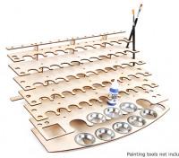 DIY Laser Cut  Paint Bottle Desk Organiser 7 Tier 400mm