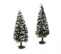 HobbyKing™ 90mm Scenic Model Fir Trees with Snow (2 pcs)