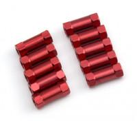 3x13mm Alu. geringes Gewicht runden Ständer (rot)