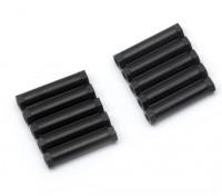 3x24mm Alu. geringes Gewicht Rundständer (schwarz)