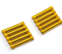 3x29mm Alu. geringes Gewicht runden Ständer (Gold)