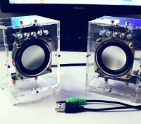 DIY Active Speaker-Set mit weißen Kasten