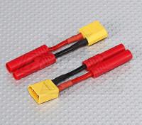 XT-60 bis 4 mm Batterie-Adapter-Kabel (2pc) hxt