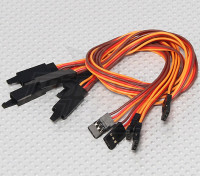 30CM Servo Lead-Extention (JR) mit Haken 26AWG (5pcs / bag)