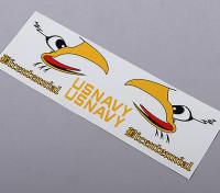 US Navy Schwanz Self Adhesive Aufkleber - Bicentennial (Anzug 70mm / 90mm EDF)