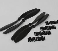 Hobbyking Slowfly Propeller 10x4.5 Black (CW / CCW) (4 Stück)