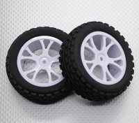 Vorne Buggy Reifen Set 2sets (Split 5-Spoke) - 1/10 Quanum Vandal 4WD Racing Buggy (2 Stück)