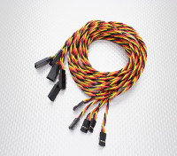 Verdrehte 100cm Servokabel Extension (JR) 22 AWG (5pcs / set)