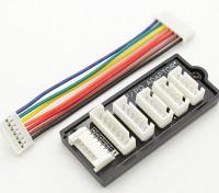 Adapterplatine für 2S-6S Lipo Akkus mit HP / PQ Gleichgewicht Stecker