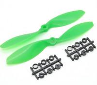 Hobbyking Propeller 7x3.8 Green (CW / CCW) (2 Stück)