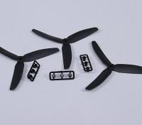 Hobbyking ™ 3-Blatt-Propeller 5x3 Schwarz (CCW) (3pcs)