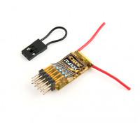OrangeRx R410X DSMX Kompatibel 4Ch / 6CH PWM / CPPM 2,4 GHz Empfänger