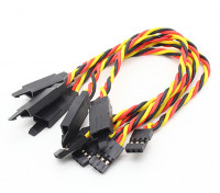 Verdrehte 15cm Servokabel Extention (JR) mit Haken 22 AWG (5pcs / bag)