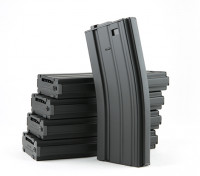 King Arms 300 rundet Wind-up-Metall-Magazine für M4 / M16 AEG (schwarz, 5pcs / box)