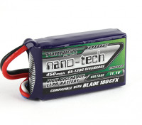 Turnigy Nano-Tech-450mAh 3S 65C Lipo (E-Flite Blade-kompatible 180CFX EFLB4503SJ30)