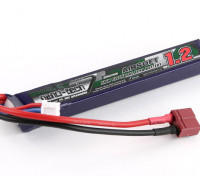 Turnigy Nano-Tech-1200mAh 2S 25 ~ 50C Lipo AIRSOFT Packung (T-Connector)