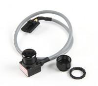 Aomway Mini 600TVL FPV Tuned-CMOS-Kamera mit Mikrofon und geschirmtes Kabel (NTSC)