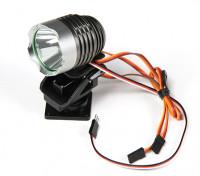 Leistungsstarke Scheinwerfer mit Built-In Pan / Tilt und Fernlichtmodus einschalten