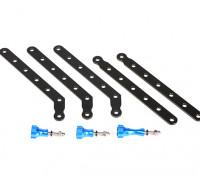 Einstellbare Aluminiumhalter Set für GoPro Oder Turnigy Aktion Cams (Blau / Schwarz)