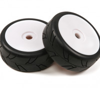 1/8 Skala Weiß Pro Dish Räder mit Semi Slick Stil Reifen (2pc)