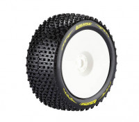 LOUISE T-PIRATEN 1/8 Skala Truggy Reifen Super Soft Compound / 1/2 Offset / White Rim / Mounted