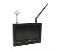 7 Zoll 800 x 480 40CH Diversity Empfänger Sun Lesbare FPV-Monitor w / DVR Fieldview 777SB (US-Stecker)