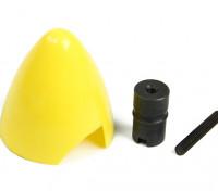 Cox 0,049 / 0,051 Kunststoff Spinner und Motor-Hub (Gelb)