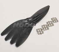 GWS Stil Slowfly Propeller 11x4.7 Schwarz (CW) (4 Stück)