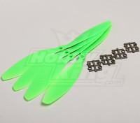 GWS Stil Slowfly Propeller 11x4.7 Green (CW) (4 Stück)