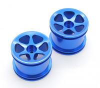 GPM Racing Assoziierte RC18T Alloy Standard-sinkage Oberflächen Felgen (6-polig) (blau) (1 Paar)