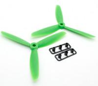 GemFan 5045 GFK-3-Blatt Propellers CW / CCW Set Green (1 Paar)