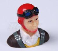 Parkfly klassische Ära Pilot (rot) (H37 x W40 x D22mm)