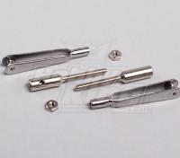 Schnelle Verbindung Stahl Clevis w / 2mm Gewinde Koppler (1Pair)
