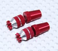 Alloy Anti-Rutsch-TX Steuer Short Sticks (Futaba TX - Red)