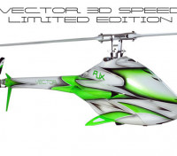 RJX Vector 700 EP 3D Speed ​​Limited Edition Flybarless Helicopter Kit
