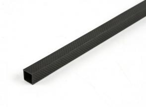 Kohlenstoff-Faser-Vierkantrohre 15 x 15 x 500 mm