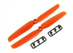 Gemfan 6030 GFK / Nylon Propellers CW / CCW-Set (orange) 6 x 3