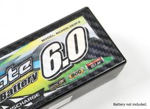 Track Dekorative Batterie-Abdeckung Panels für Standard-2S Hardcase Transparenz Carbon-Muster (1pc)