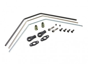 Rear Sway Bar Set (silver/blue/black) - Basher SaberTooth 1/8 Scale Truggy