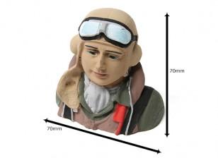 WWII verbündete Pilot (H68 x W72 x D43mm)