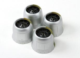 Motorhaube (4 Stück für ein Flugzeug) Silber Montage