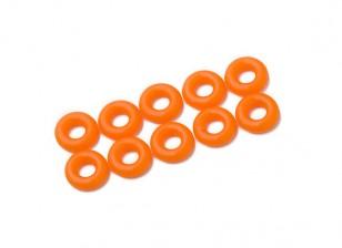 2 in 1 O-Ring-Kit (neon orange) -10pcs / bag