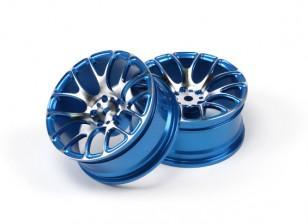 1/10 Aluminium Drift 7Y-Speichen-Rad-Blau
