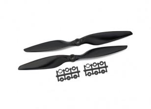 Gemfan Glas Nylon 1045 2- flügeligen Propeller Black (CW / CCW) (1 Paar)