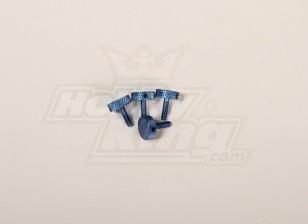 Canopy Rändelschraube Blau für alle 30-90 Kappe (4 Stück)