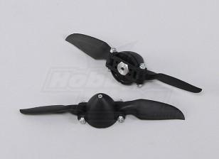 Faltpropeller W / Hub 35mm / 3mm 6x6 (2 Stück)