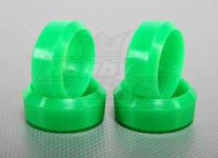 Maßstab 1:10 Hartplastik-Drift-Reifen Set Neon-Grün RC Car 26mm (4pcs / set)